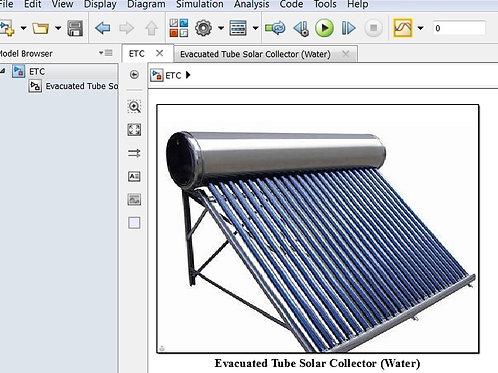 Evacuated Tube Solar Collector Design Model