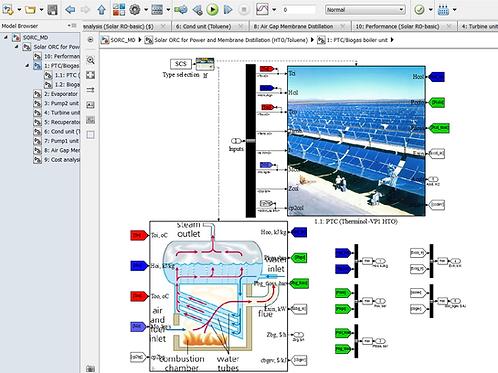 Solar ORC/Biogas for Membrane Distillation & Power Generation