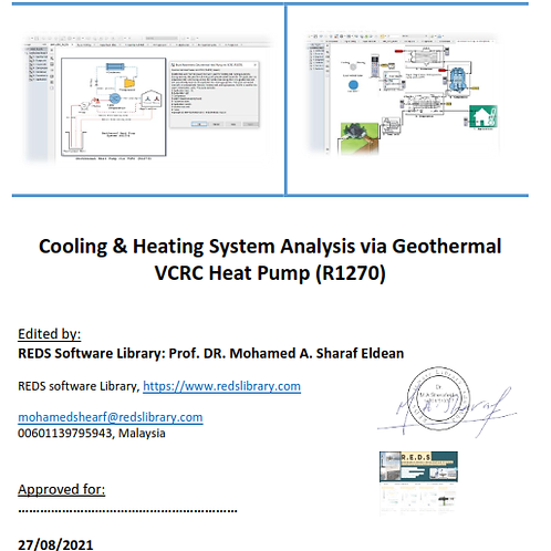 Cooling & Heating via Geothermal VCRC_R1270: The Report