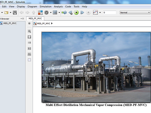 Multi Effect Distillation Mechanical Vapor Compression (MED-PF-MVC)