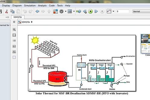 Solar Thermal for MSFbr Desalination Process