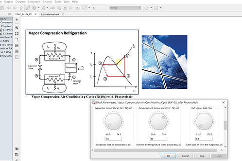 Vapor Compression AC/R410a with Solar Photovoltaic System