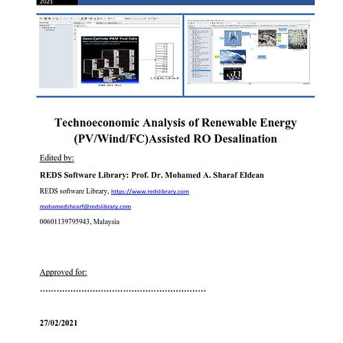Techno-economic Analysis of Renewable Energy Assisted RO Desalination