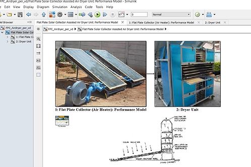 Flat Plate Solar Air Dryer: Performance Model
