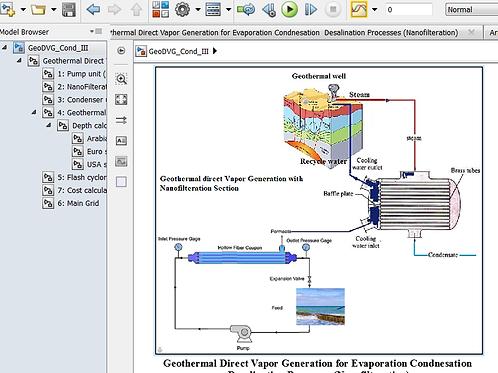 Geothermal DVG-NF-Flashing Condensation Desalination