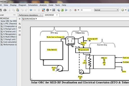 Solar ORC for MED-BF Desalination & Power Generation