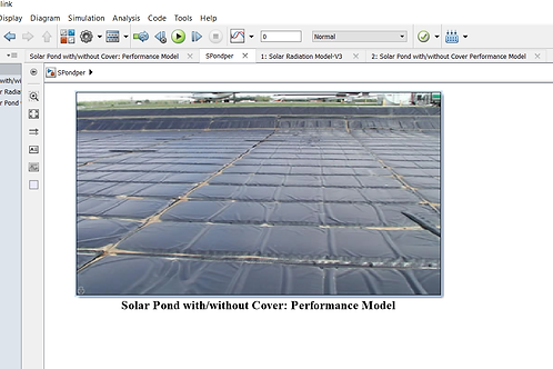 Solar Pond Performance Model (covered+uncovered)