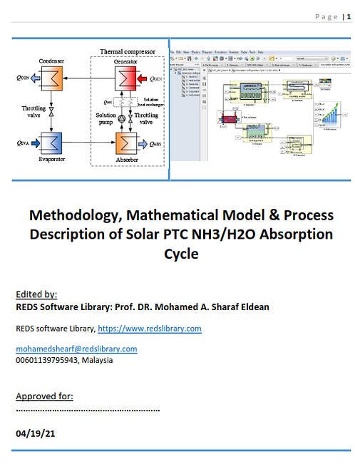 Solar PTC for NH3/H2O Absorption Air Conditioning: The Report