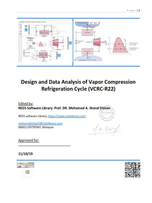 Mathematical Model Description for Vapor Compression Refrigeration Cycle (R22)