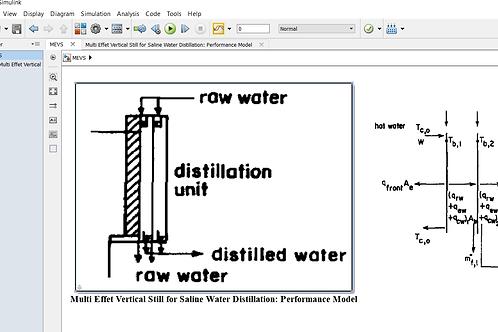 Multi Effect Vertical Still: Performance Model
