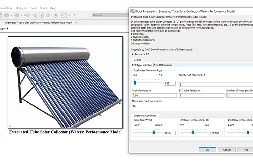 Evacuated Tube Solar Collector: Performance Model