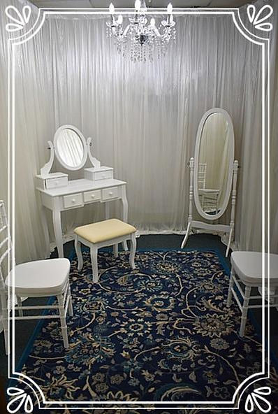 The white wedding dressing room