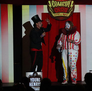The Ringmaster and Chlamy the Clown