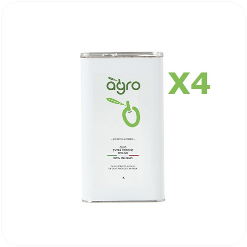 4 Lattine 3L Olio Extravergine (Spedizione Incl.)