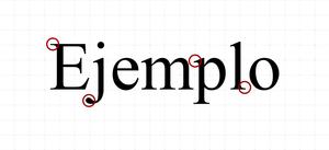 Tipografía con Serifa