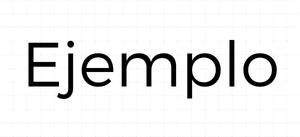 Tipografía sin Serifa