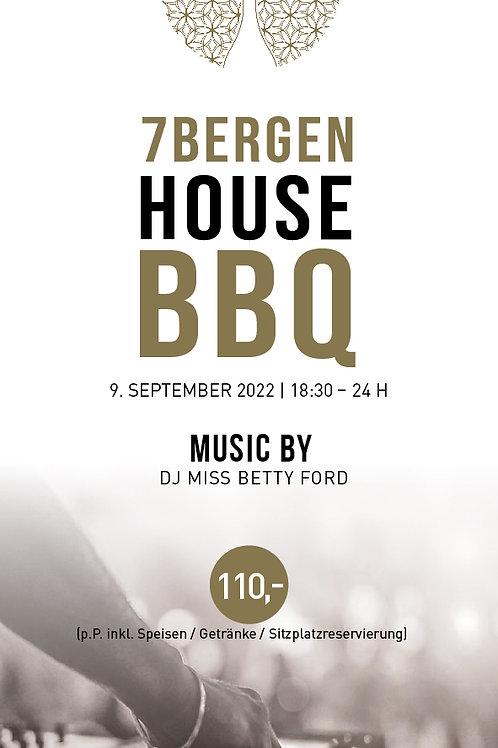HOUSE BBQ 09.September 2022 inkl. Speisen&Getränke