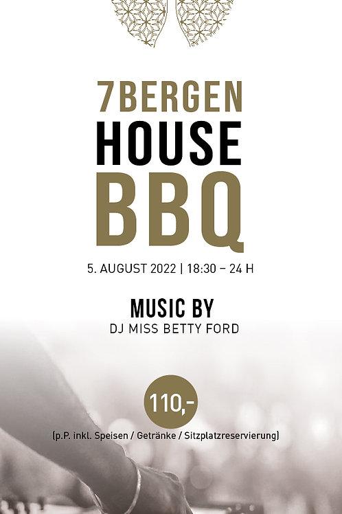 HOUSE BBQ 05.August 2022 inkl. Speisen&Getränke