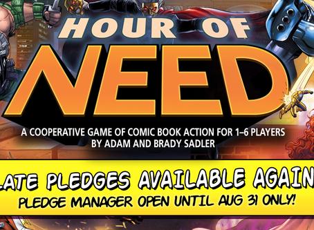 Hour of Need Late Pledges Return!