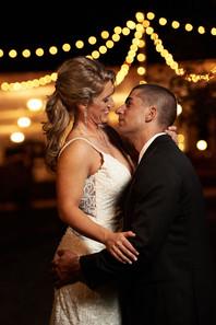 String lights at NC wedding venue