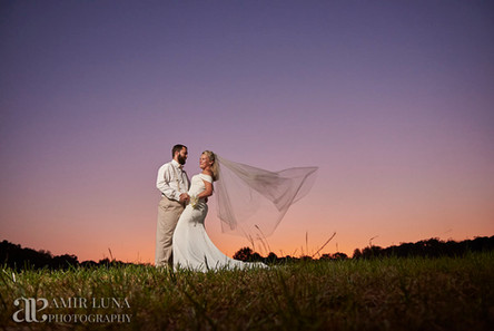 Bride & Groom Sunset picture at Chateau Vie