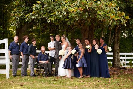 Wedding Party Below Magnolia - Chateau V