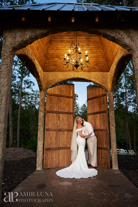 Night time pictures at North Carolina Wedding venue