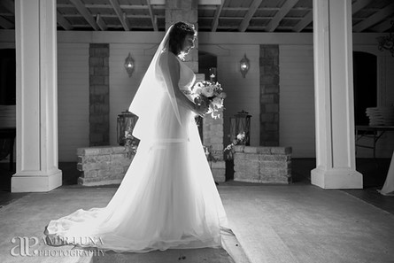 North Carolina Wedding, Bride by fireplace