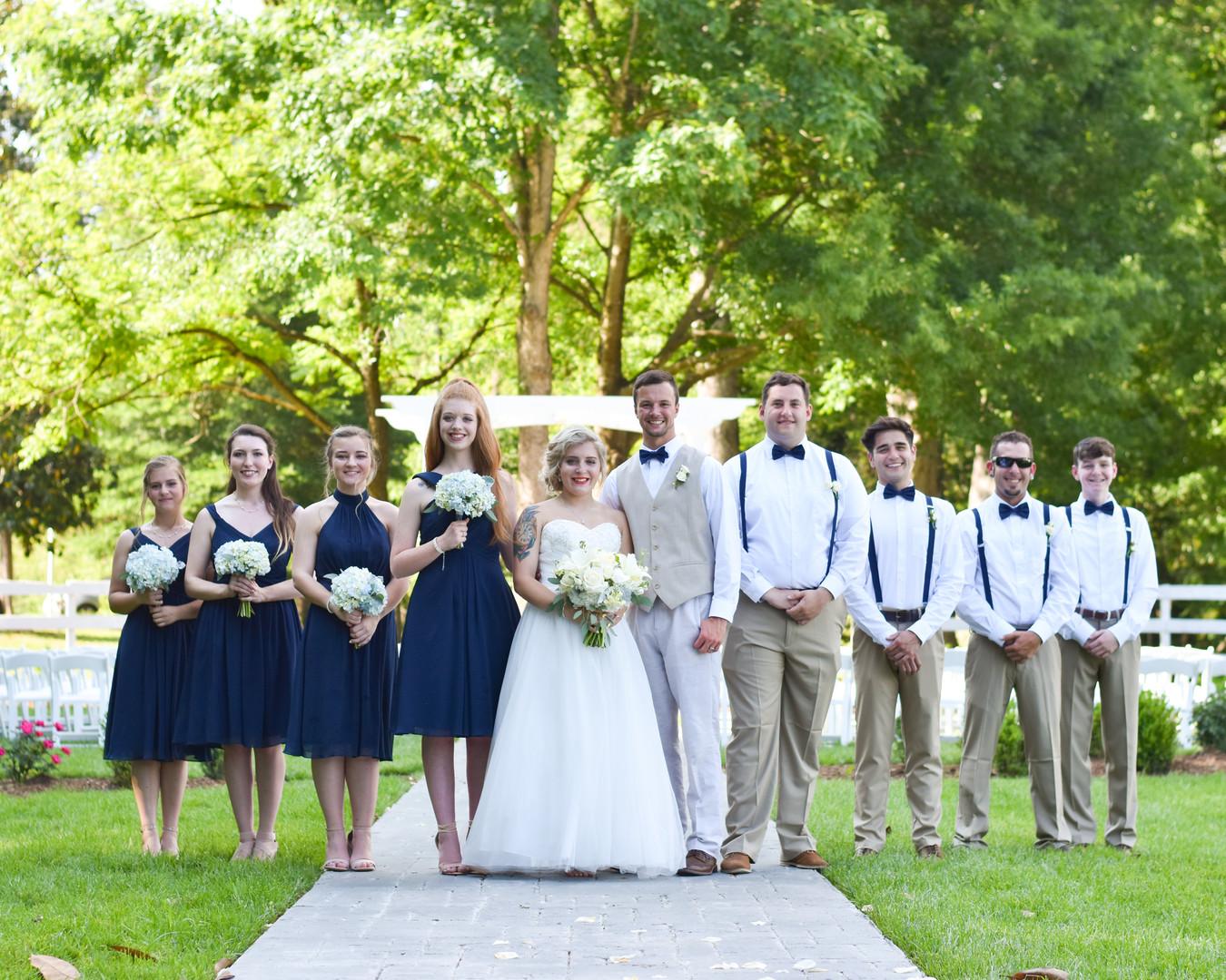 NC formal Garden Wedding