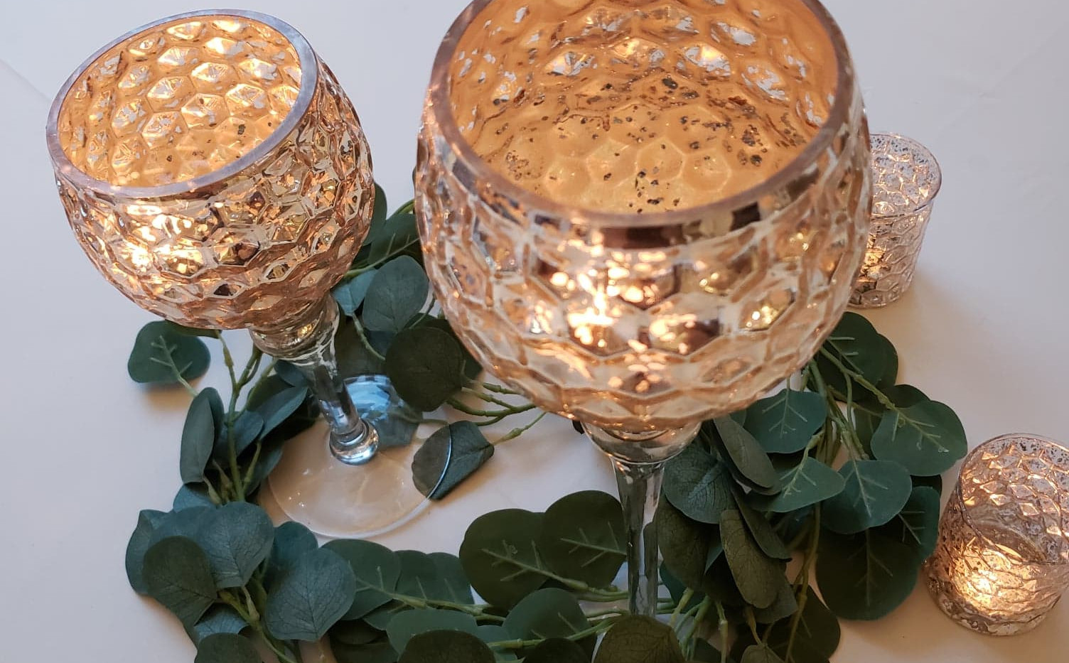 Gold Goblet Wedding Centerpieces