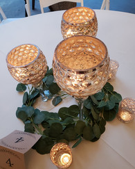 Gold Goblet Wedding Centerpieces