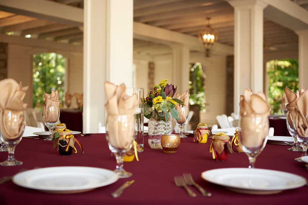 Wedding Reception Colors Burgundy