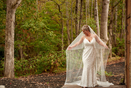 Bride at Lakeside WaterFront Ceremoy