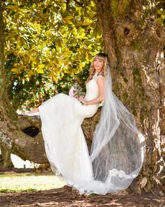 Bride in Magnolia Tree, Chateau Vie.jpg