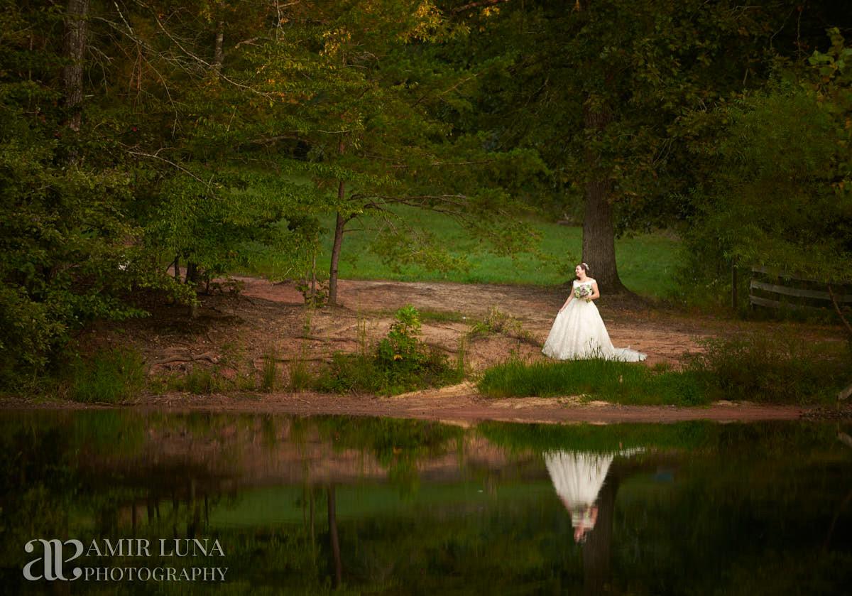 Woodsy Wedding reception