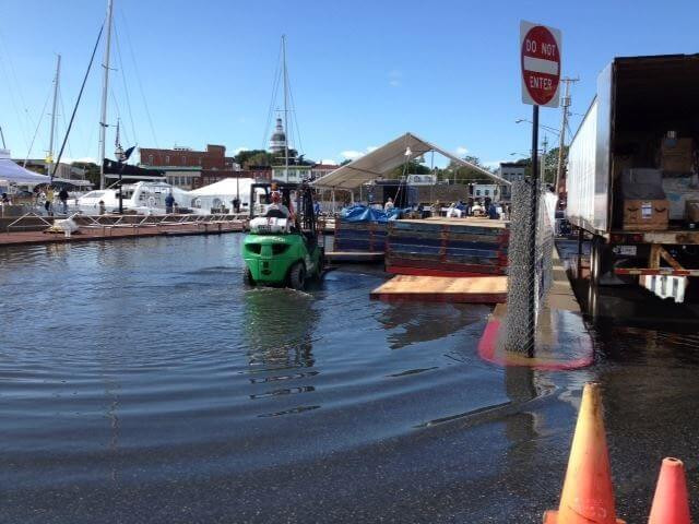 Sunny-day flooding in Annapolis. City of Annapolis photo via Maryland Matters