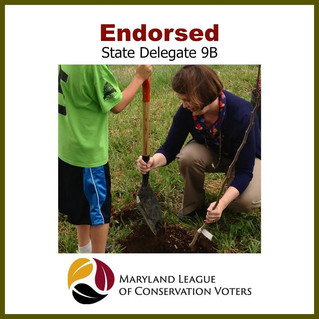 Thank You for the Endorsement Maryland League of Conservation Voters!