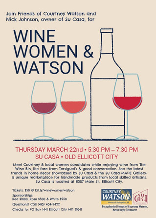 Wine, Women & Watson - Come Celebrate Women's History Month with Me!