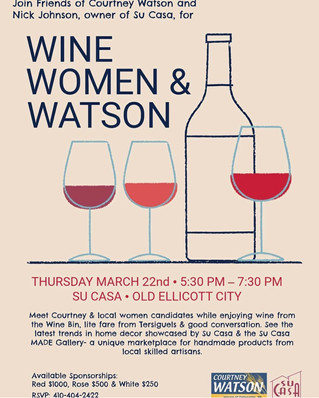Join Us for Wine, Women & Watson - March 22!