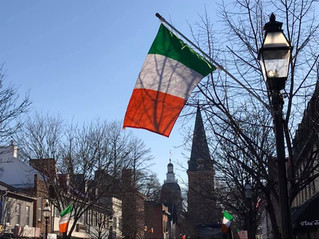 Irish Flags Line My Walk to the Statehouse Today