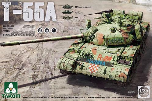 (под заказ) Российский танк Т-55А (набор 3 в 1) - Takom 2056 1:35