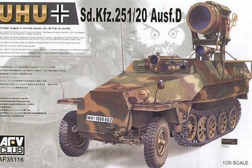 Немецкий БТР Ханомаг Sd.Kfz. 251/20 Uhu - AFV Club AF35116 1:35