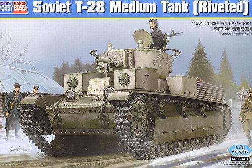 Советский танк Т-28 с заклепками - Hobby Boss 83853 1:35