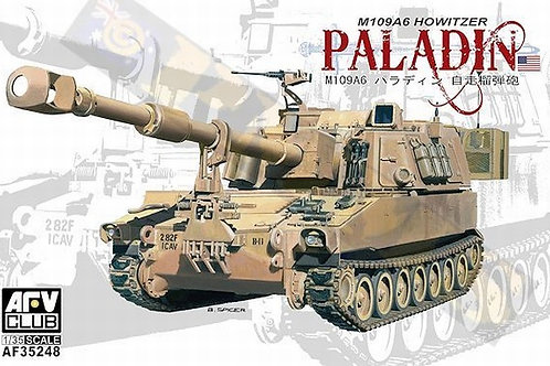 (под заказ) Американская гаубица M109A6 Паладин - AFV Club AF35248 1:35