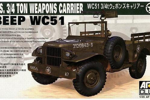 (под заказ) U.S. 3/4 ton Weapons Carrier WC51 Beep - AFV Club AF35S15 1:35