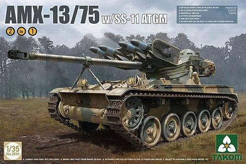 AMX-13/75 with SS-11 ATGM (2 в 1) - Takom 2038 1:35