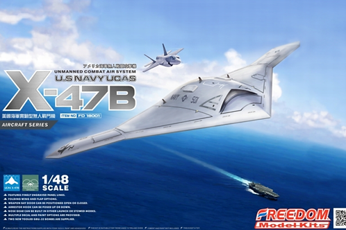 (под заказ) U.S NAVY UCAS X-47B - Freedom Model Kits 18001 1:48