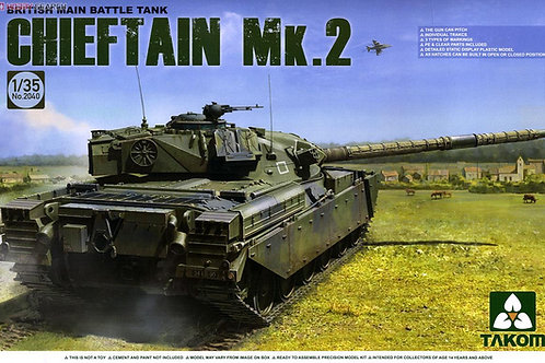 Британский танк Chieftain Mk.2, Чифтен 2 - Takom 2040 1:35