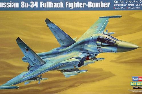 (под заказ) Су-34 российский истребитель-бомбардировщик - Hobby Boss 81756 1:48