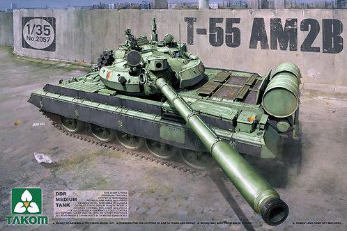 Танк Т-55АМ2В (ГДР), DDR Medium Tank Т-55 AM2B - Takom 2057 1:35